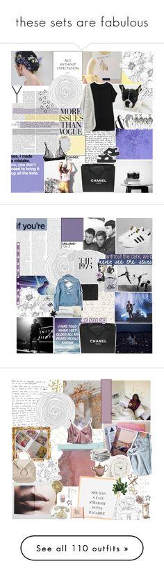 """these sets are fabulous"" by impossibleyear ❤ liked on Polyvore featuring Chanel, Heidi Klum Intimates, Melissa, Monki, Wassup, madebysarahrose, Assouline Publishing, Kenzo, Frette and Blink"