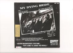 MY DYING BRIDE- GOD IS ALONE 1ST 7'' HANDNUMBERED