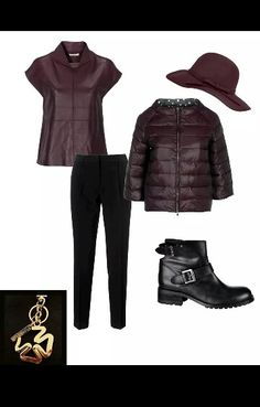 #fall/ #winter #autunno #inverno #piumino #bikers #pantalone #bordeaux #stefanelvigevano #stefanel #look #fashion