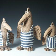Ptáci Concrete Projects, Ceramic Pots, Objects, Pottery, Clay, Birds, Animals, Garden Decorations, Gallery