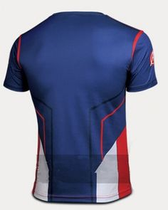 c3560c291cb4 2015 newest Captain America t shirt XXXXL Steve Rogers blue and red mens  tshirts- Superman