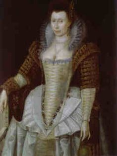 """Elizabeth """"Bess"""" Throckmorton was a lady in waiting to Elizabeth I. She fell in love with Sir Walter Raleigh, and the two decided to marry in secret (it appears after Bess was already pregnant), because they knew Elizabeth would never consent to their marriage. When Elizabeth found out about it, she banished both her unchaste lady-in-waiting and her """"Water"""" (as she had nicknamed him) from court. They went to live in the country for five years in exile."""