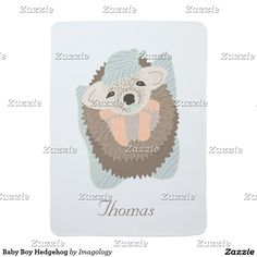 Baby Boy Hedgehog Swaddle Blanket