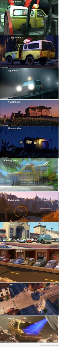 pizza truck all throughout disney pixar movies! I look for it every time i watch a pixar movie. Disney Pixar, Disney Facts, Disney Memes, Disney And Dreamworks, Walt Disney, Disney Nerd, Disney Characters, Disney Love, Disney Magic