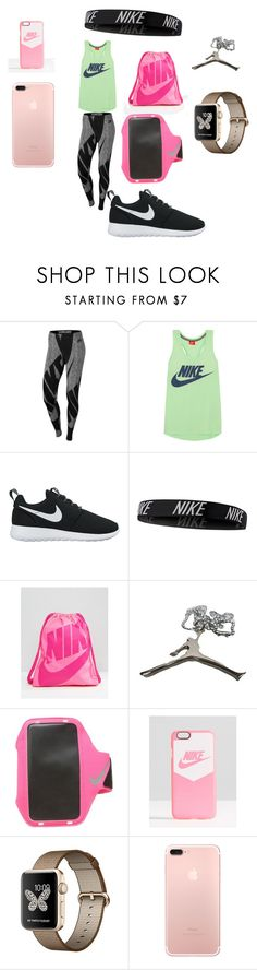"""""""NIKE"""" by daycee-morris ❤ liked on Polyvore featuring NIKE"""