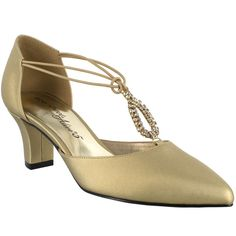71046b3be Easy Street Moonlight Women s Gold Pump ( 60) ❤ liked on Polyvore featuring  shoes