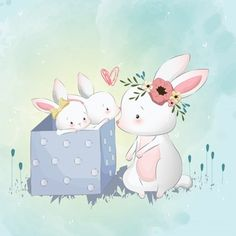 21 ideas for baby animals ilustration pictures Baby Animal Drawings, Cute Drawings, Cute Images, Cute Pictures, Lapin Art, Baby Animals, Cute Animals, Art Mignon, Baby Posters