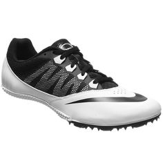 f44f435519f8 Nike Rival S 7 Track Spikes Sprint Mens 8 Womens 9.5 White Black Running  Shoes Womens