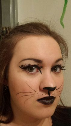Am I a cat or what Kobold, Cat Makeup, Halloween Face Makeup, Thanksgiving, Cats, Cherries, Gatos, Kitty Cats, Cat Breeds