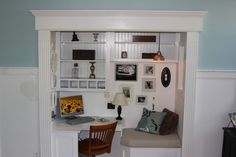 Office space in a tiny closet
