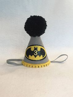 Batman Birthday Hat Boys First Birthday Hat Superhero