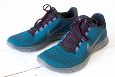 I got the Nike x Undercover GYAKUSOU Free 3.0 V4 Midnight in Turquoise and Midnight Fog. A light running sneaker designed for a barefoot-like experience. Made from seamless upper in one piece, full inner sleeve of mesh for a sock-like fit and reflective elements for visibility.
