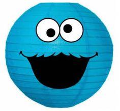 Sesame Street Birthday - decor - Cookie Monster paper lantern