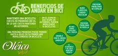 """""""BENEFICIOS DE LA BICICLETA""""  #Salud #Ejercicio"""