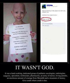 It wasn't God. If he can cure it, why doesn't he cure everyone's?