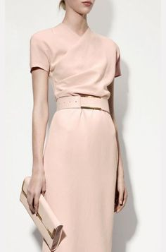 Pink dress with short sleeves for summer work                                                                                                                                                      More