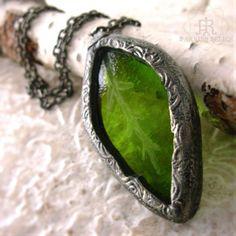 Joy of Spring Leaf necklace by Parrish Relics