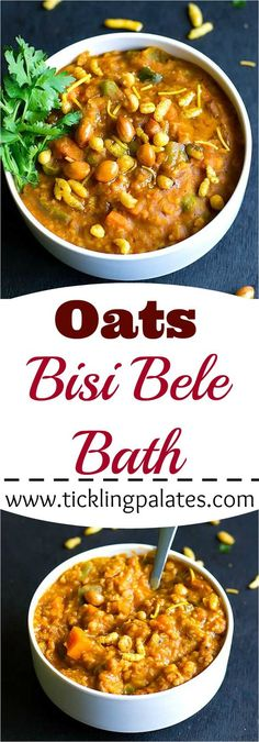 Oats Bisi Bele Bath with step by step photos.
