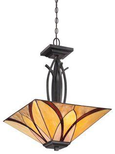 Quoizel TFAS2817VA Asheville 3 Light Pendants in Valiant Bronze craftsman-pendant-lighting