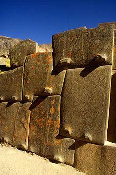 Incan stonework, Fortress of Ollantaytambo, Sacred Valley.  Photo: Mylene d'Auriol Stoessel.