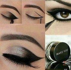 Easy cat eye with gel liner