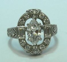 1920's Art Deco platinum ring-yes I'll have this one!