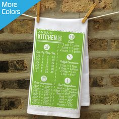 Personalized Kitchen Conversions Towel - perfect addition to the Chef's kitchen!