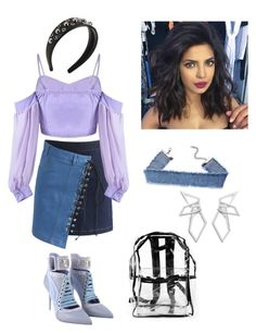 """Untitled #9"" by cjzj on Polyvore featuring Chicwish, Puma, RED Valentino and W. Britt"