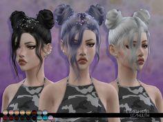 Nevaeh Hair by Leah Lillith at TSR via Sims 4 Updates