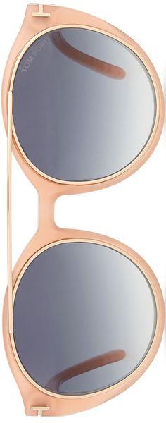 TOM FORD Joan Two-Tone Aviator Sunglasses | LOLO❤