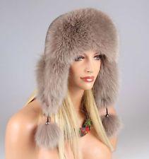 Donna Volpe Inverno Berretto Cappello Trapper Pelliccia Aviatore Colbacco  Urss  EUR 163 716e5091d02a