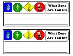 Zones of Regulation Support Materials-Inside Out Theme