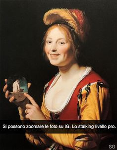 """Gerard van Honthorst. """" Giovane moglie con un medaglione in mano """""""