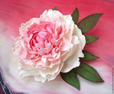 Купить Брошь Пион из фоамирана - розовый, цветок из фоамирана, пионы, пион из фоамирана, фоамиран