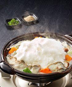 食卓にふわふわの雪が降る♪淡雪牡蠣鍋