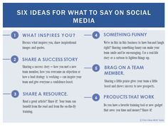 6 ideas for what to say on #SocialMedia  #BestSEO #SocialMediaMarketing