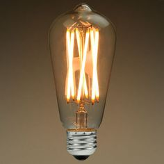 Vintage LED for mudroom. 650 lumen, 2200K, 95 CRI.  Brighter than incandescent filament bulbs.  $19.99 each.