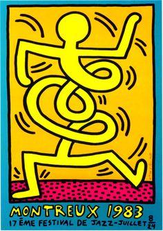 Montreux, 1983  Silkscreen  39 3/8 x 27 5/8 inches   100 x 70 cm    Montreux, 1983  17eme Festival de Jazz  Edition: 80