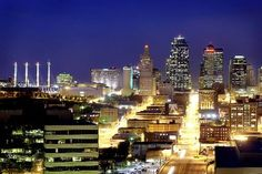 Kansas City Skyline  - I spent a lot of time in KC - many day trips for concerts, shopping, amusement park, - and lived there at two different times in my life.  I attended Rockhurst University and Research College of Nursing for my BSN.