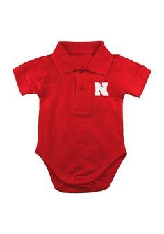 Nebraska Cornhuskers Infant Red Polo Onesie http://www.rallyhouse.com/college/nebraska-cornhuskers/a/kids/b/infant-clothing?utm_source=pinterest&utm_medium=social&utm_campaign=Pinterest-NebraskaCornhuskers $19.99