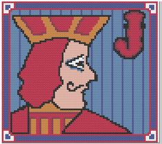 One Eyed Jacks Cross Stitch PDF Pattern Twin Peaks on Etsy, $3.00