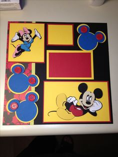 Special scrapbook page for my nephew and niece that visited Disneyland earlier this year.