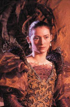 Tilda Swinton in Caravaggio (I like thse Queen Elizabeth the first style pearl drop earrings.)