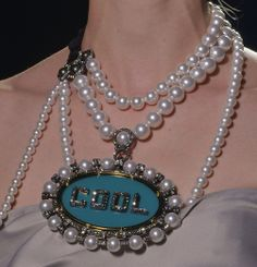 """Lanvin Fall 2013 Jewelry Like """"just"""" pearls more.."""
