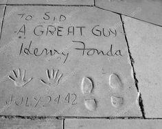 Henry Fonda's Hand & Foot Prints 1942 Reprint Of Old Photo Henry Fonda's Hand & Foot Prints 1942 Reprint Of Old Photo Here is a neat collectible of Henry Fonda's hand and foot prints in ceme