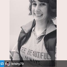 We're so thrilled to celebrate with @krishy79 in her See Beautiful. Always. Hoodie!! Seeing beautiful in her clear-from-cancer scan!!