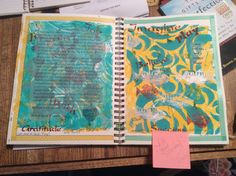 Gelli fun! Ann taught us to Gelli. Wow! By Miki 4/28/14