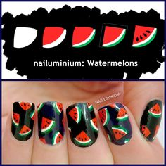 Nailuminium: Watermelons #nail #nails #nailart