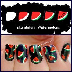 Nailuminium: Watermelons #nail #nails #nailart
