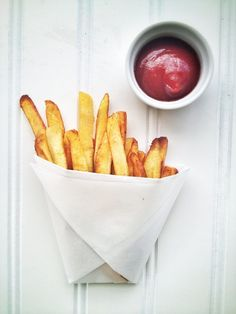 Crispy Plantain Fries!!  Crazy simple to make and just as good as regular fries!